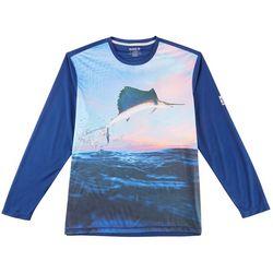Reel Legends Mens Freeline Sail Away Long Sleeve Shirt