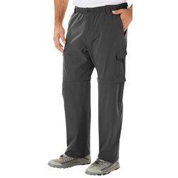 Reel Legends Mens Mackerel Heathered Convertible Pants