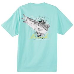 Reel Legends Mens Black & White Snook T-Shirt