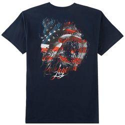 Reel Legends Mens Americana Skeleton T-Shirt