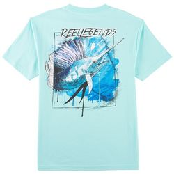 Reel Legends Mens Marlin Map T-Shirt