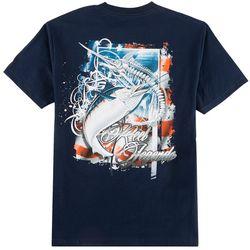 Reel Legends Mens American Skeleton T-Shirt