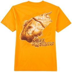 Reel Legends Mens Fish Outline T-Shirt