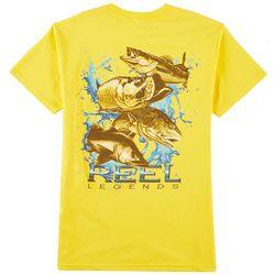 Reel Legends Mens Four Fish Slam T-Shirt