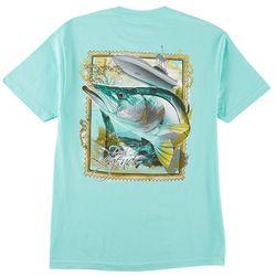Reel Legends Mens Snook Postage T-Shirt