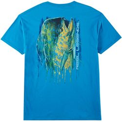 Reel Legends Mens Big Time Mahi Short Sleeve T-Shirt