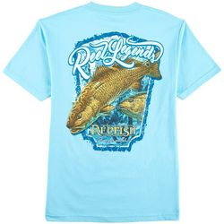 Reel Legends Mens Redfish Crew T-Shirt