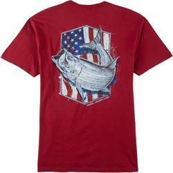 Reel Legends Mens Stars & Stripes Tarpon T-Shirt