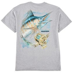 Reel Legends Mens Atlantic Blue Marlin T-Shirt