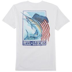 Reel Legends Mens Flag Wave T-Shirt