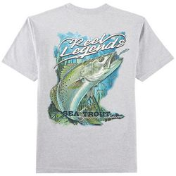 Reel Legends Mens Heathered Sea Trout T-Shirt