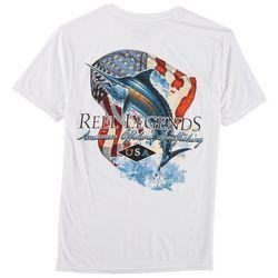 Reel Legends Mens American Marlin T-Shirt