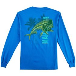 Reel Legends Mens Mahi Skeleton Long Sleeve T-Shirt