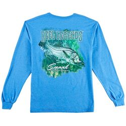 Reel Legends Mens Snook Heathered Long Sleeve T-Shirt