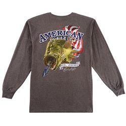 Reel Legends Mens American Bass Long Sleeve T-Shirt