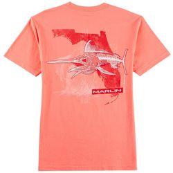 Reel Legends Mens Bad To The Bone Marlin T-Shirt