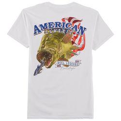 Reel Legends Mens American Bass Skeleton T-Shirt
