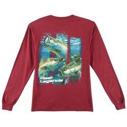 Reel Legends Mens 3-Strikes Long Sleeve T-Shirt