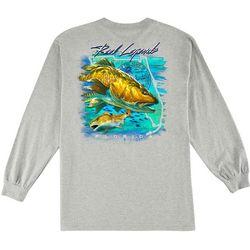 Reel Legends Mens Raging Redfish Long Sleeve T-Shirt