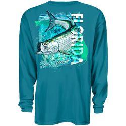 Reel Legends Mens Tarpon Swim Long Sleeve T-Shirt