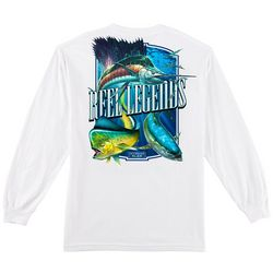Reel Legends Mens Big Trophy Slam Long Sleeve T-Shirt