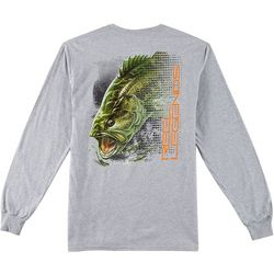 Reel Legends Mens Fish Finder Bass Long Sleeve T-Shirt