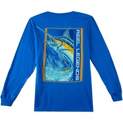 Reel Legends Mens Marlin Expedition Long Sleeve T-Shirt
