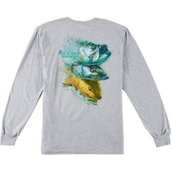 Reel Legends Mens 3 Headed Monster Long Sleeve T-Shirt
