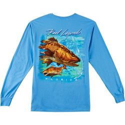 Reel Legends Mens Raging Redfish Long Sleeve T-Shirt