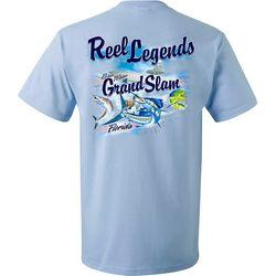 Reel Legends Mens Grand Slam Short Sleeve T-Shirt