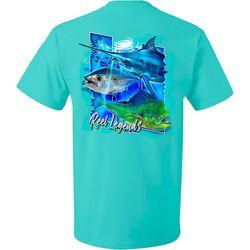 Reel Legends Mens Offshore Trio Short Sleeve T-Shirt