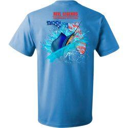 Reel Legends Mens Sailfish Americana Short Sleeve T-Shirt