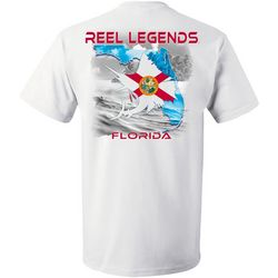 Reel Legends Mens Outline Florida Flag Short Sleeve T-Shirt