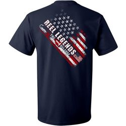 Reel Legends Mens Americana Tag Release Short Sleeve T-Shirt