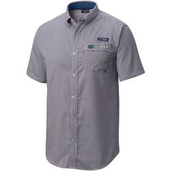Florida Gators Mens PFG Tamiami Plaid Short Sleeve Shirt