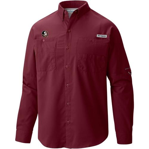16c4df63977 Florida State Mens PFG Tamiami Long Sleeve Shirt by Columbia   Bealls  Florida