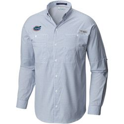 Florida Gators Mens Super Tamiami Gingham Long Sleeve Shirt