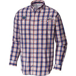 Florida Gators Mens Super Tamiami Plaid Long Sleeve Shirt