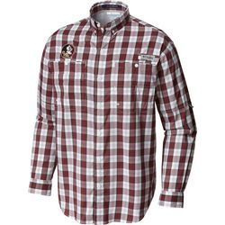 Florida State Mens Long Sleeve Plaid Super Tamiami Shirt