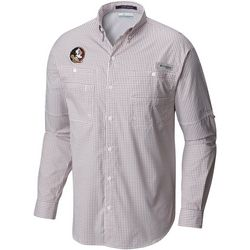 Florida State Mens Super Tamiami Gingham Long Sleeve Shirt