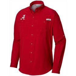 Alabama Mens PFG Tamiami Long Sleeve Shirt by Columbia