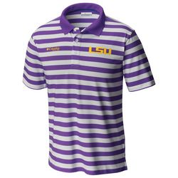 LSU Tigers Mens Super Low Drag Polo Shirt by Columbia