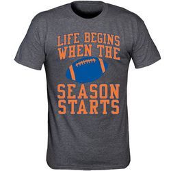 Florida Gators Mens Life Begins Heathered T-Shirt by TSI