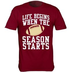Florida State Mens Life Begins When Season Starts T-Shirt