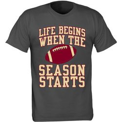 Florida State Mens Life Begins T-Shirt by TSI