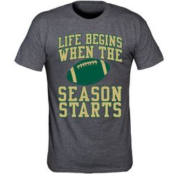 USF Bulls Mens Life Begins Heathered T-Shirt by TSI