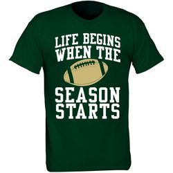 USF Bulls Mens Life Begins T-Shirt by TSI