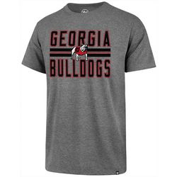 Georgia Bulldogs Mens Block Stripe Club T-Shirt by 47 Brand