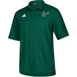 USF Bulls Mens Iconic Short Sleeve Polo Shirt by Adidas