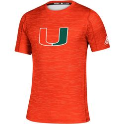 Miami Hurricanes Mens Game Mode Training T-Shirt by Adidas
